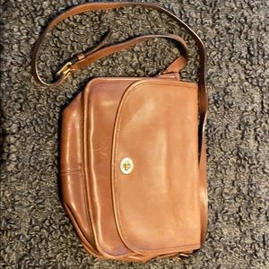 Coach Vintage Brown Leather Satchel Crossbody Bag